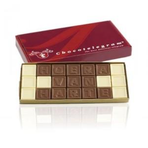 Chocoladetelegram kado geven for Geen cadeau voor verjaardag