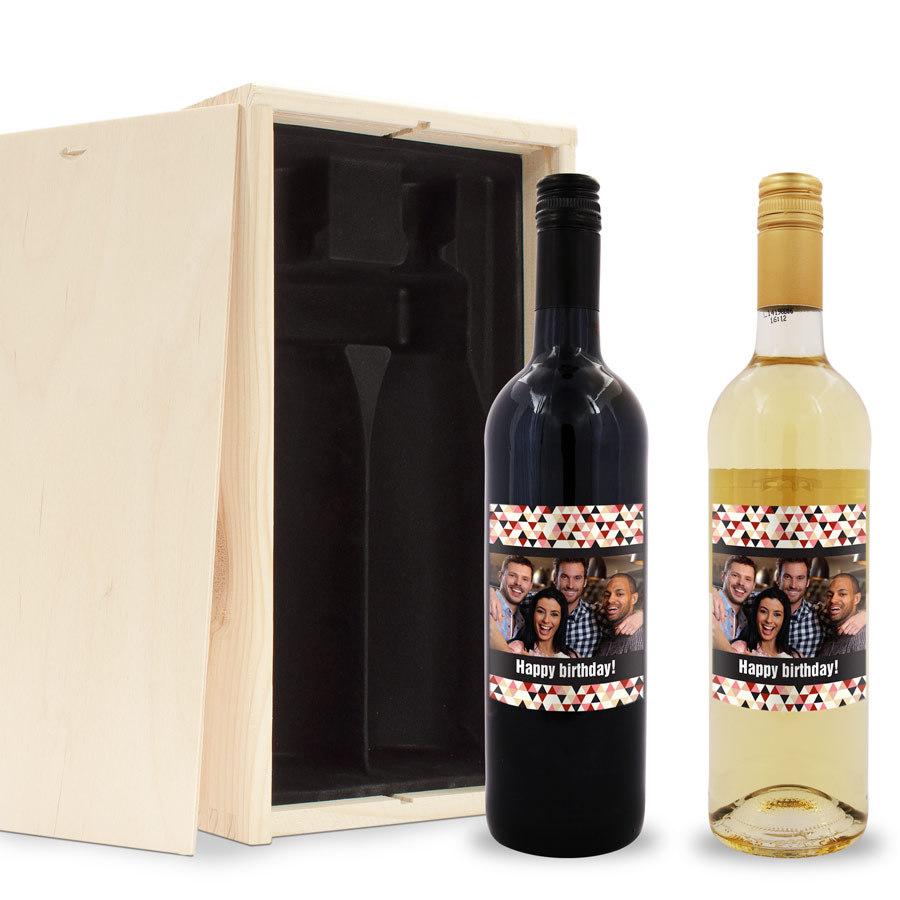persoonlijke wijnfles