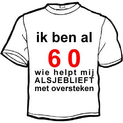 Bedwelming Vaak 60 Jaar Man Verjaardag BM65 | Belbin.Info @PL55